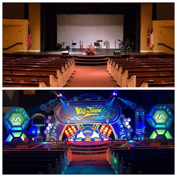 #KidzTurnTakeover  Great week, sharing the Gospel with the families around #Lynnfield MA  here's a before/after shot of our invasion at @calvarycc.  #kidmin #vbs #fammin #thinkorange #kidsministry #kidzturn #LynnfieldMA