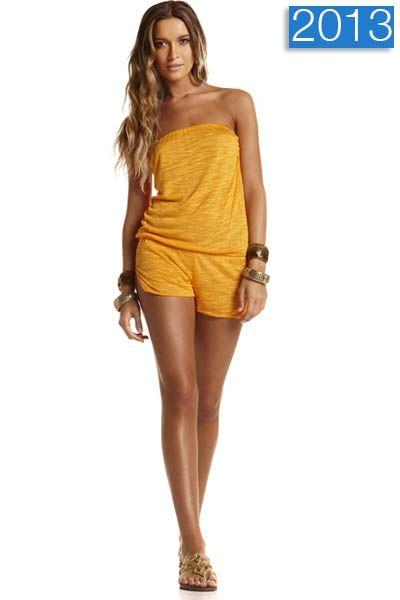 Saffron Dunes Romper #vitamina