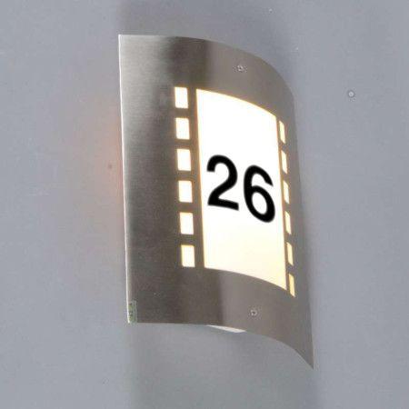 au enleuchte emmerald mit lichtsensor und hausnummer au enbeleuchtung. Black Bedroom Furniture Sets. Home Design Ideas