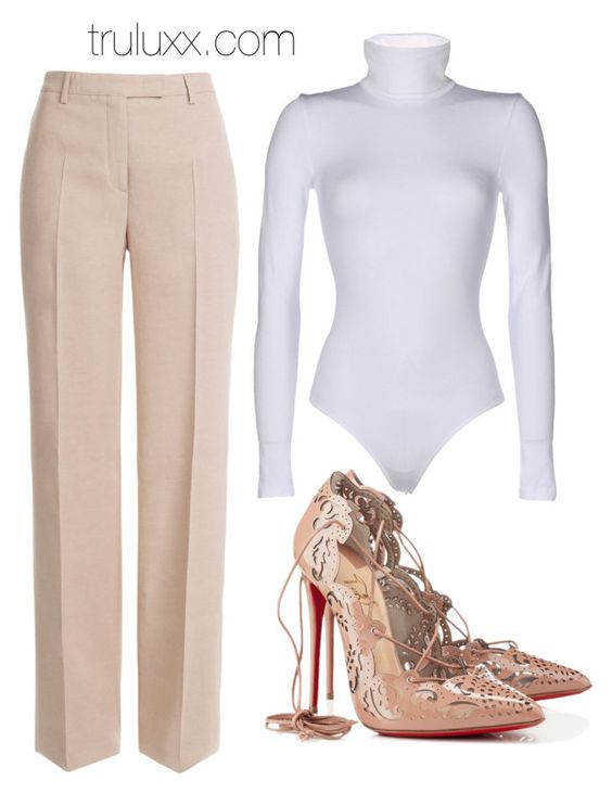 Untitled #64 by lgudda on Polyvore featuring polyvore fashion style Wolford Emilio Pucci Christian Louboutin clothing