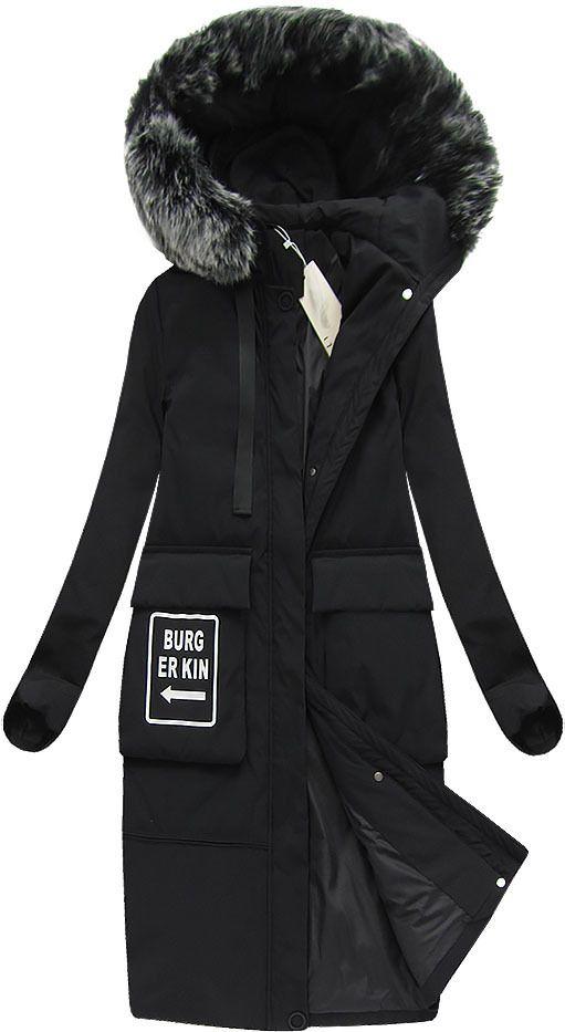 Plaszcz Damski Zimowy Z Puchem Naturalnym Czarny X7093x Fashion Canada Goose Jackets Women