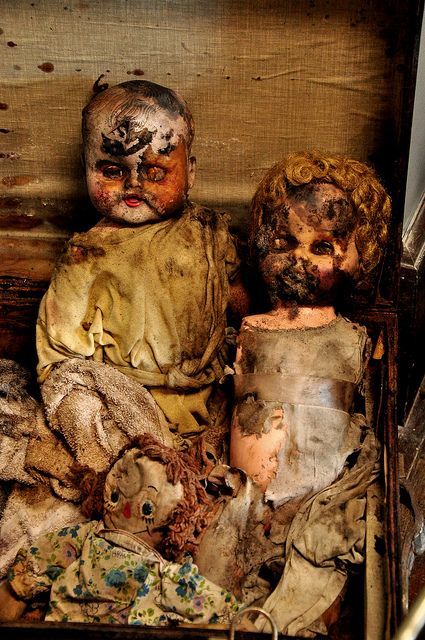Lost | Forgotten | Abandoned | Displaced | Decayed | Neglected | Discarded | Disrepair | In the Asylum - Dolls of Former Patients