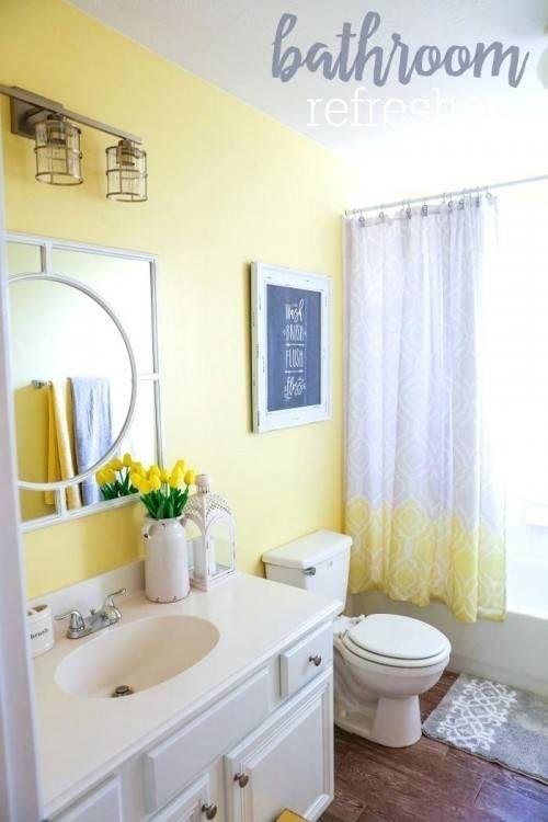 Bathroom Ideas Yellow And Gray