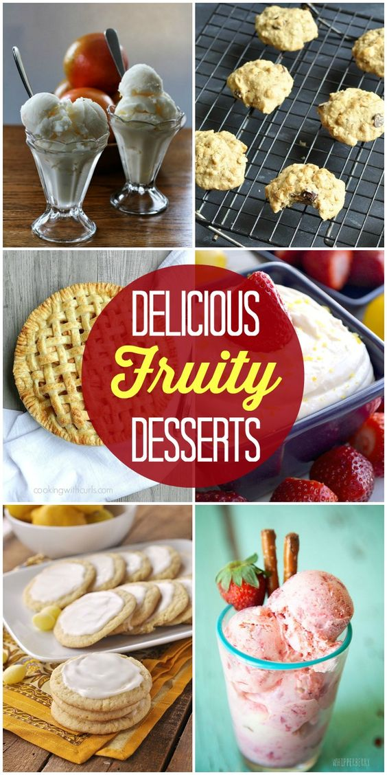A collection of delicious fruity desserts made out of all different types of fruits! SO YUMMY!! { lilluna.com }