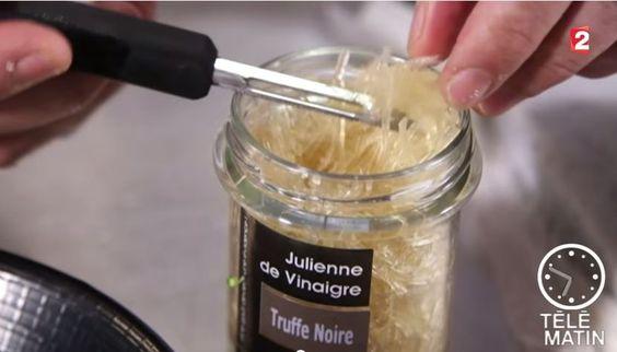 Julienne de vinaigre balsamique blanc à la truffe @telematin @france2