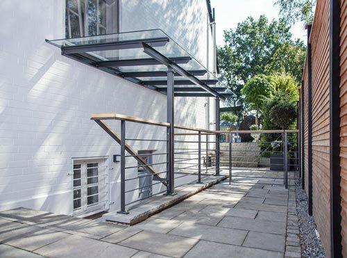 Terrassenuberdachung Mit Sonnenschutz Terrassendach Vordach