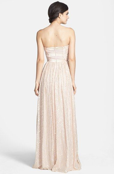 ERIN erin fetherston 'Coralie' Foiled Silk Chiffon Gown available at #Nordstrom