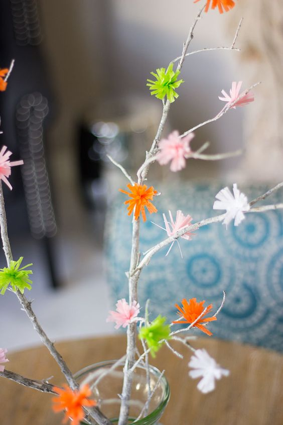 Flowering Spring Branches with Martha Stewart Crafts