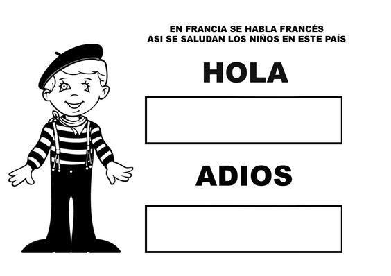 Saludo en francés