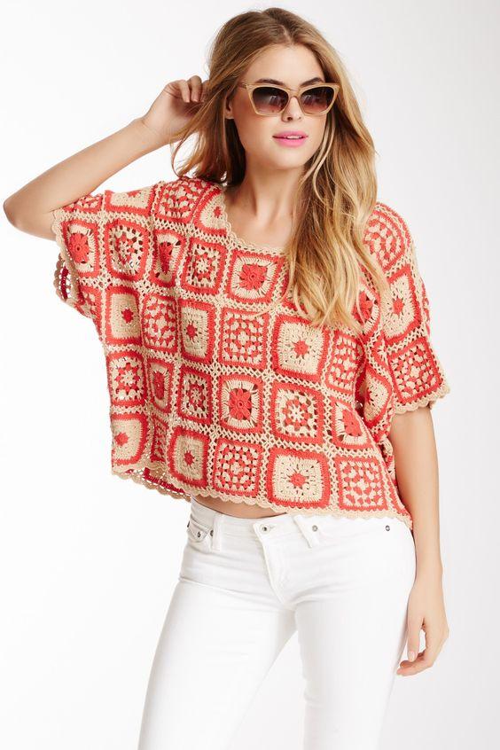 Soul Hunter Crochet Tee      ♪ ♪ ... #inspiration #crochet  #knit #diy GB  http://www.pinterest.com/gigibrazil/boards/