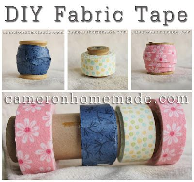 Make your own fabric tape with carpet tape...