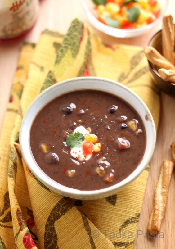 Kicked-up Black-Bean Soup