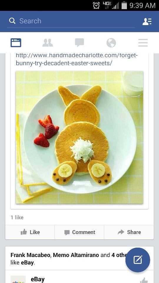 Bunny pancakes!!