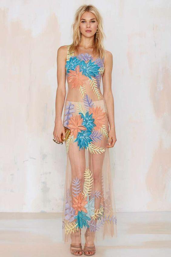 nasty gal islander maxi dress
