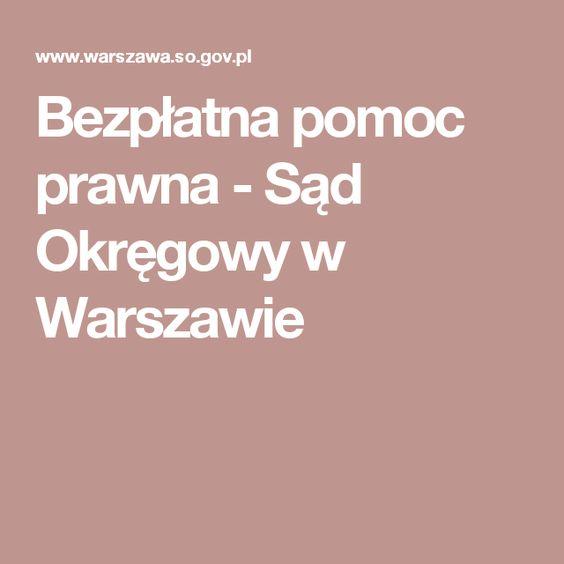 Bezpłatna pomoc prawna - Sąd Okręgowy w Warszawie