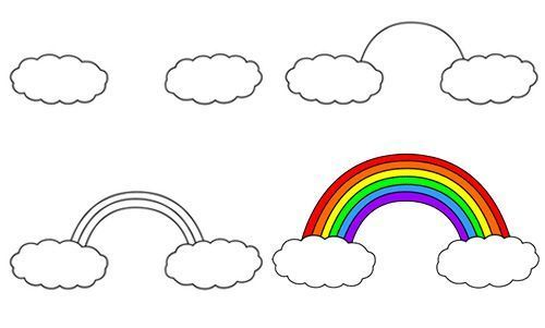 How To Draw A Rainbow With Images Rainbow Drawing Art
