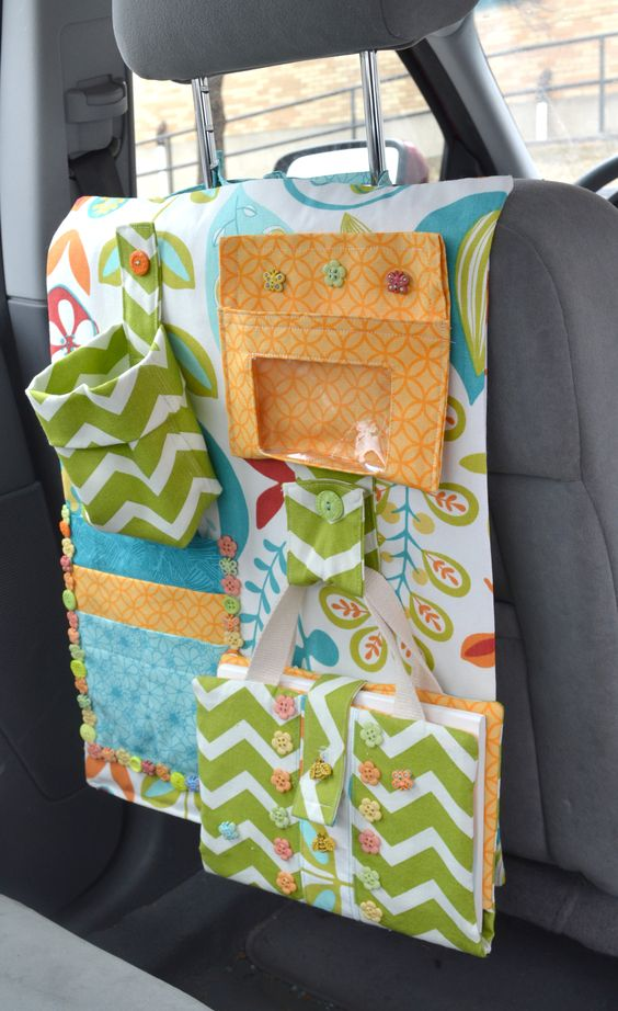 Dress It Up Buttons, Car Caddy Find some cute fabric and embellish with Dress It Up Buttons.  Make it your own!