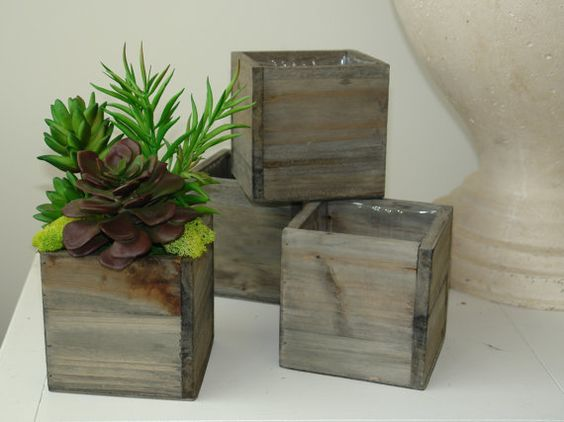 Vase natural wood and boxes on pinterest