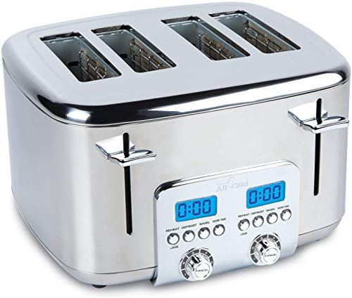 New All Clad Tj824d51 Stainless Steel Digital Toaster Extra Wide