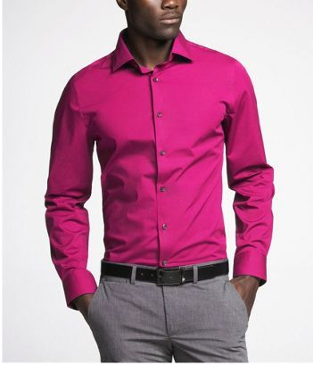 Express Men  For Him  Pinterest  Pink dress shirts Pink dress ...