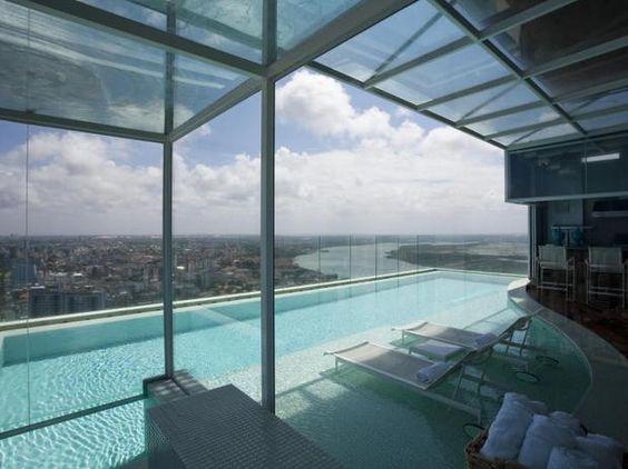 piscina com vista de Natal
