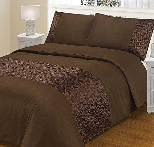 Guchy Enterprise Ellipse Gorgeous 100 Polly Cotton Duvet Cover Set Quilt Cover Bedding Set In Gorgeo Brown Duvet Covers Discount Bedding Sets Duvet Cover Sets