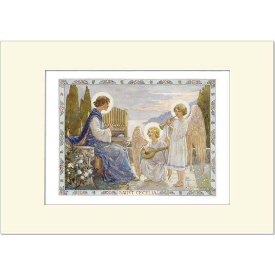 Saint Cecelia - Margaret Tarrant - Medici Mounted Print | eBay