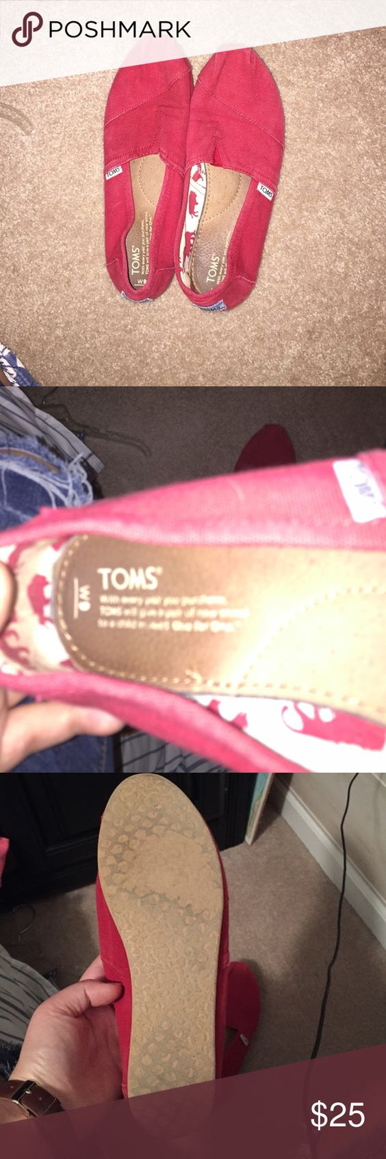 Women's size 9 red TOMS Red TOMS. Size 9. Lightly worn. VERY good condition. |OFFERS WELCOME| TOMS Shoes