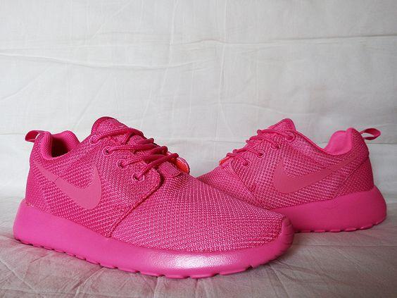 all pink roshe runs
