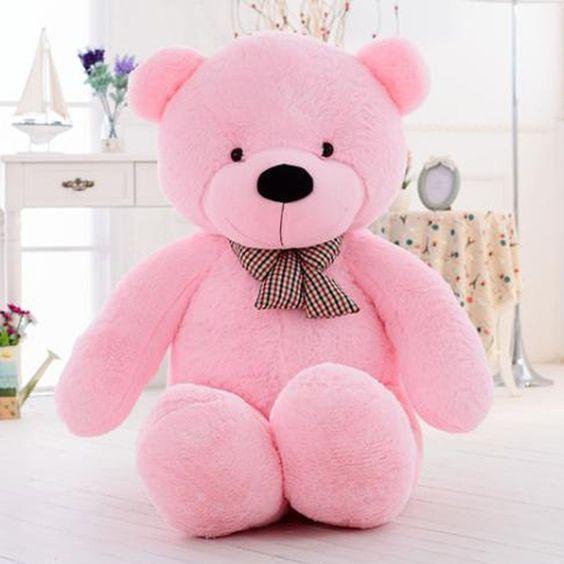 Stuffed Giant Big Pink Plush Teddy Bear Huge Top Level Soft 100/%Cotton Doll Soft