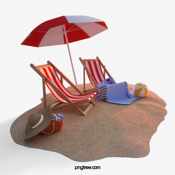 Seaside Beach Chair 3d Element Beach Chair Beach Umbrella Png Transparent Clipart Image And Psd File For Free Download Seaside Beach Beach Chairs Cartoon Background