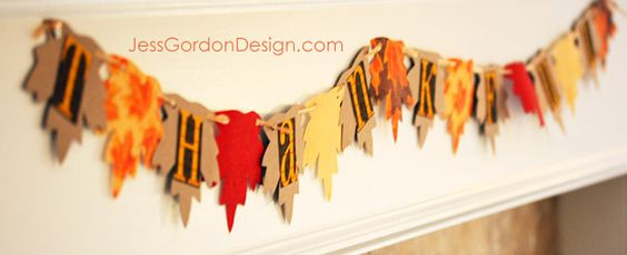 Printable Thankful Leaf Garland and tutorial