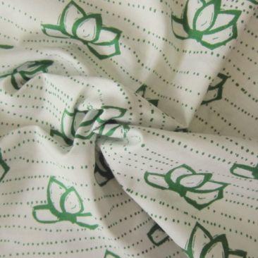Kamala In True Green Cotton Fabric - Guthrie & Ghani