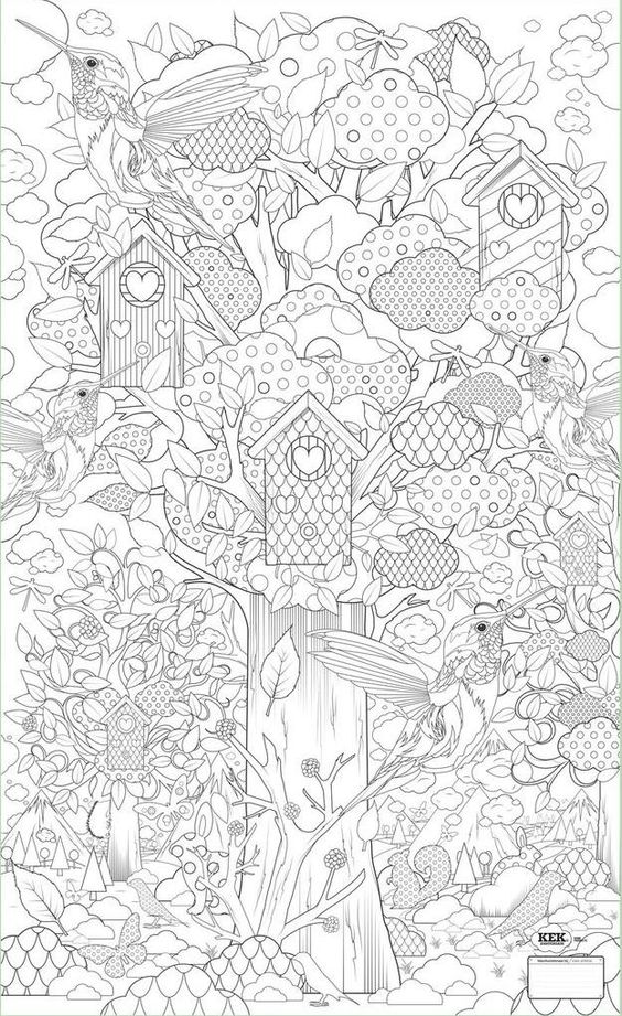 advanced nature coloring pages - photo#6