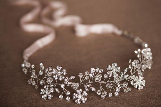 HITOP Retro Griechisch elegante Damen Süß Luxus Strass Zweig Blume Brauthaarschmuck Prinzessin Haarreif Haarschmuck Stirnschmuck Hochzeit: Amazon.de: Schmuck