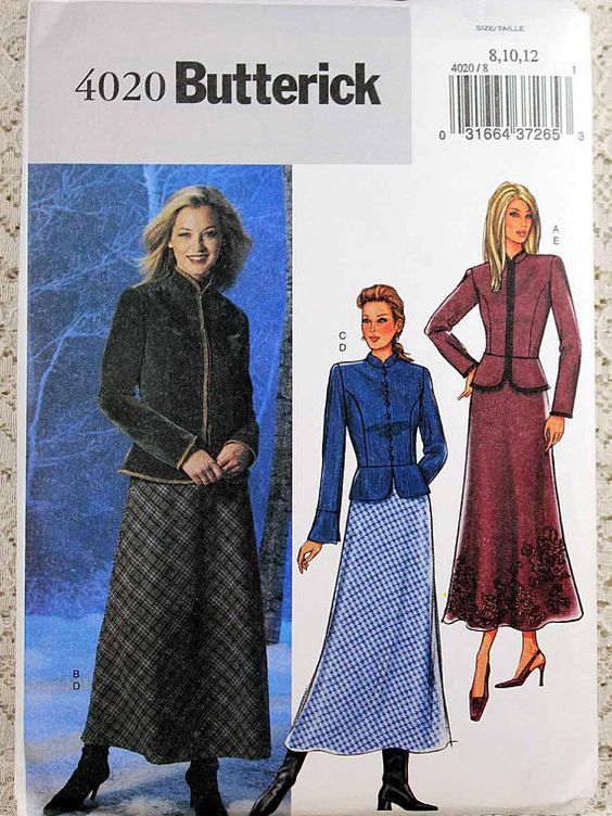 Butterick 4020 Misses' Jacket and Skirt Sewing Pattern