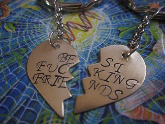 Best Fking Friends BFF MATURE CONTENT Set of Two by ForeverStamped, $22.00