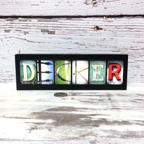 Custom NAME Wood Sign  First or Last Name by LettersOfLoveDesigns