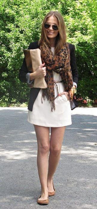 Look do dia_Look inspiração_moda para o final de semana_look de sabado_sapatilha_pashmina de onça_look de sabado: