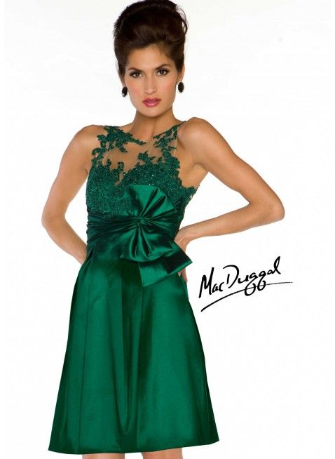 Mac Duggal 61552N Deep Emerald Green Holiday Dress - Sale ...