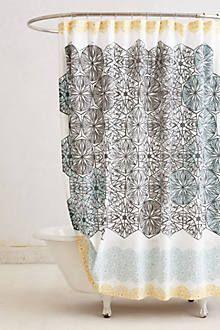 Kaleidoscope Patch Shower Curtain - anthropologie.com