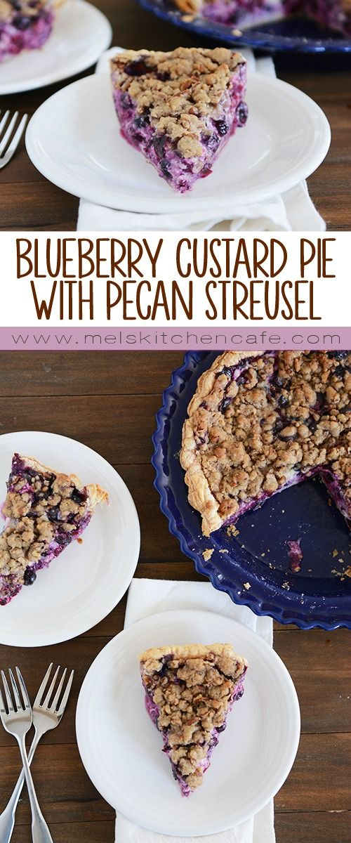 This blueberry custard pie is insanely delicious and so easy to prepare. It is the perfect summer dessert.