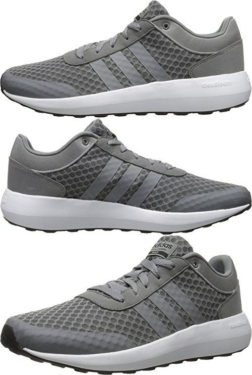 Adidas NEO Men\u0027s Cloudfoam Race Running Shoe, Grey/Tech Grey/Black, 10.5 M  US | Products