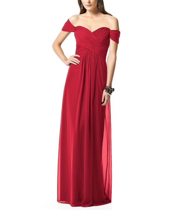Dessy Collection 2844 in Claret