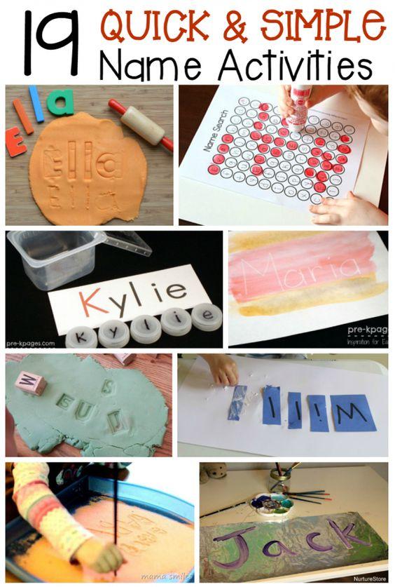 writing name activities for preschoolers