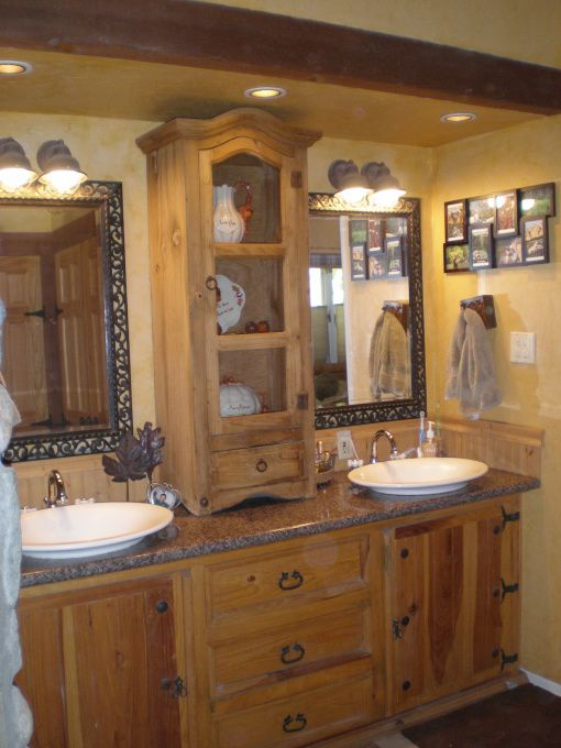 Rustic master bathroom rustic master bath our master for Rustic master bathroom designs