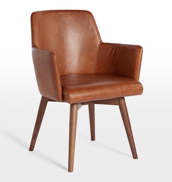 Dexter Leather Arm Chair | Rejuvenation