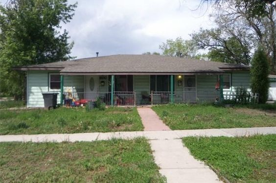 Two 2-bedroom units in this Colorado Springs duplex.  Needs a lot of work but has HUGE potential!