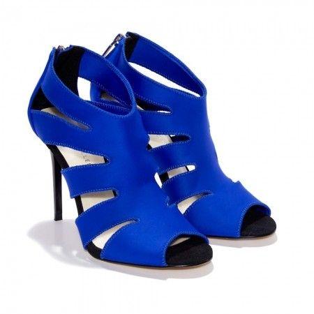 Summer fashion must-buy Karen Millen , petrol blue neoprene peep toe sandals