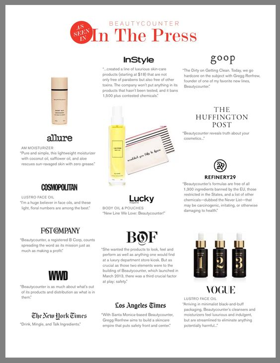 Beautycounter in the press. http://Beautycounter.com/kristenmenard: